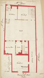 [Plan of property on Basinghall Street] 115E